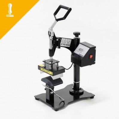 Manual cap heat press