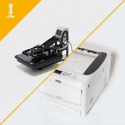 Macchinari a toner bianco per stampa professionale magliette formato A3